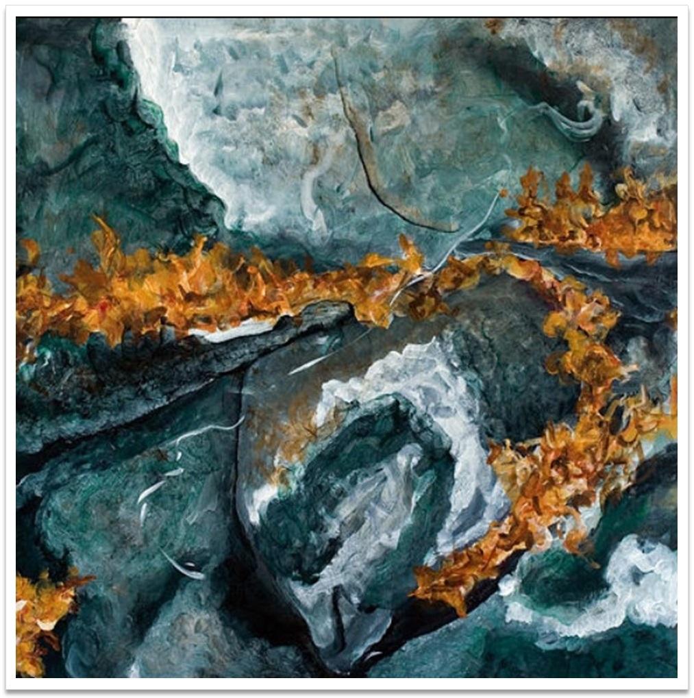 """PENUMBRA III ~ 32"""" x 32"""" oil on canvas"""