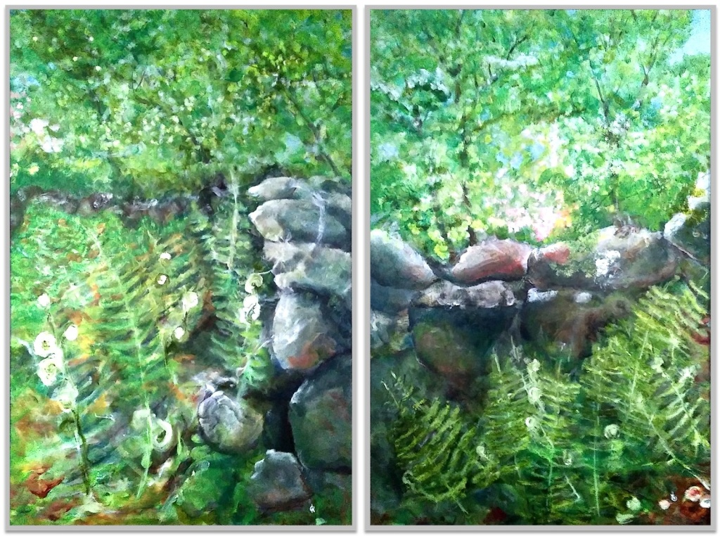 "ALONG OLD BOSTON NECK - Diptych ~ 2 (28"" x 30"") oil on canvas"