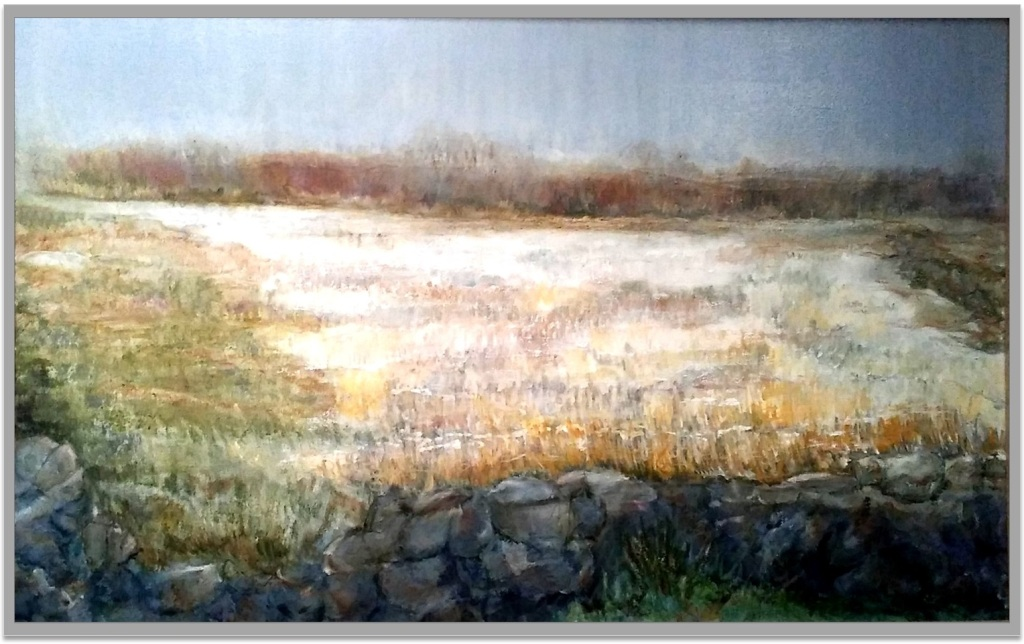 "STONES ALONG OLD BOSTON NECK ~ 28"" x 30"" oil on canvas"