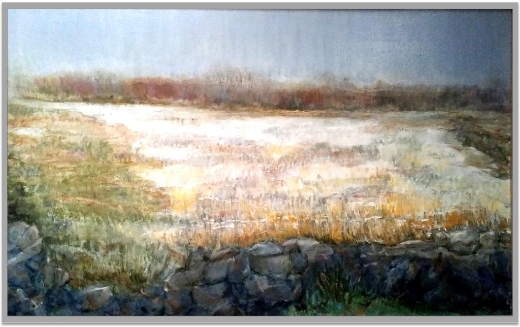 "STONES ALONG OLD BOSTON NECK ~ 28"" x 30"" oil on canvas"