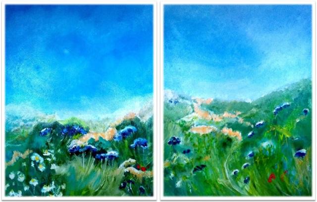 "THE DANCE ~ Diptych ~ 2 (50"" x 84"") oil on canvas"