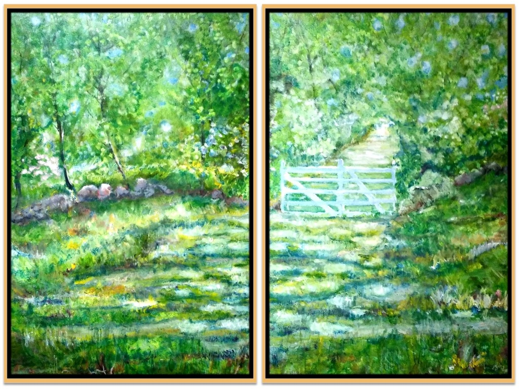 """THE GATE - Diptych ~ 2 (48"""" x 60"""") oil on canvas"""