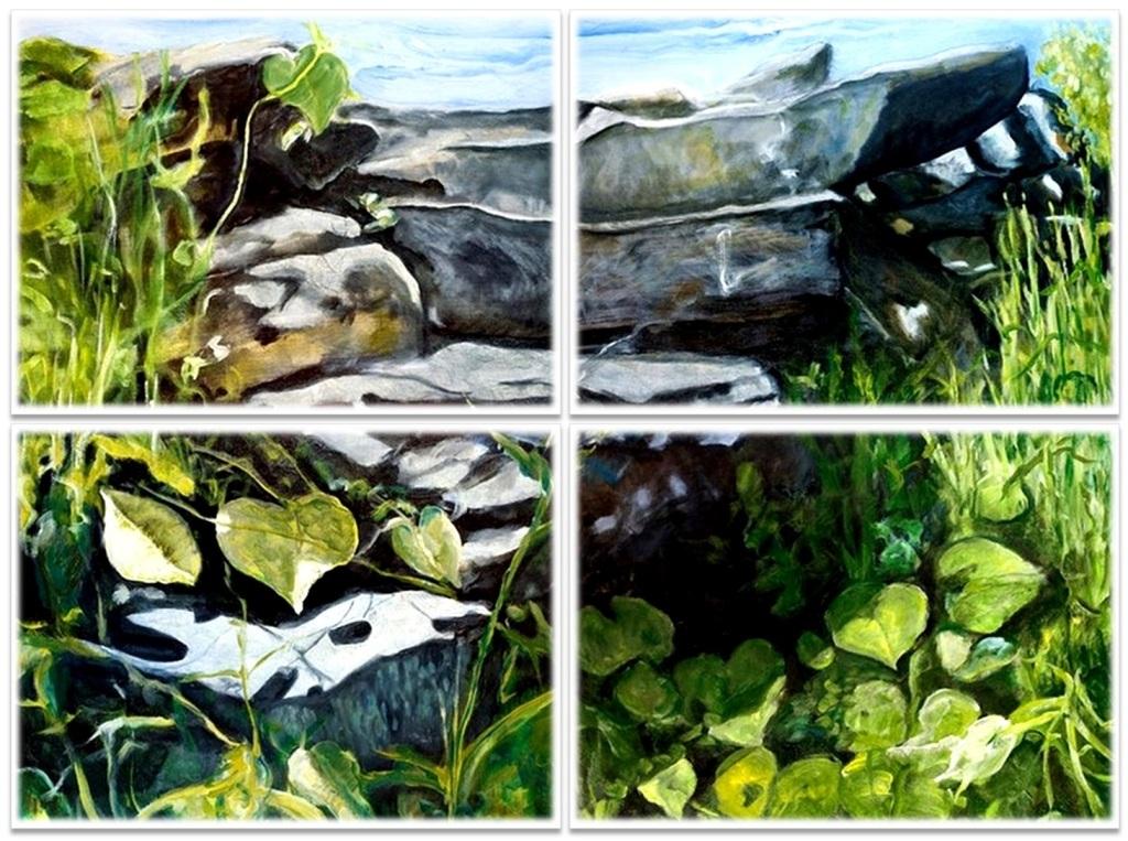 "THE PARDON ~ Quadriptych  ~ 4 (36"" x 48"") oil on canvas"