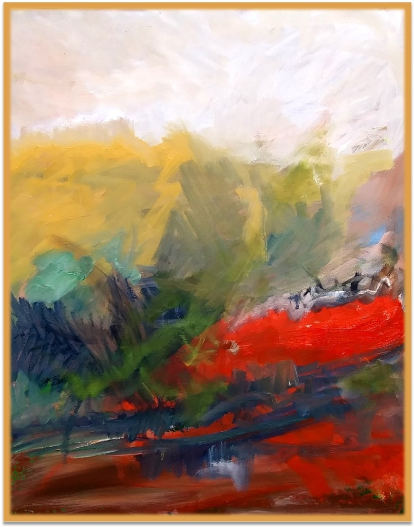 """INTO WILDERNESS 3 - 30"""" x 72"""" oil on canvas"""